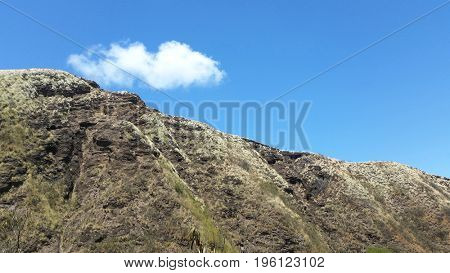 Mountain Top with Blue Sky and Cloud