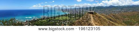 Waikiki Hawaii Panorama