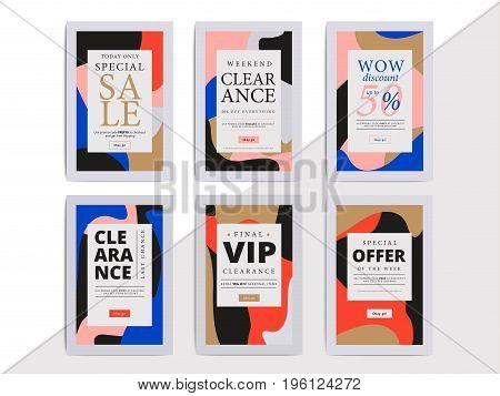 Modern Promotion Web Banner For Social Media Mobile Apps. Elegant Sale And Discount Promo Background