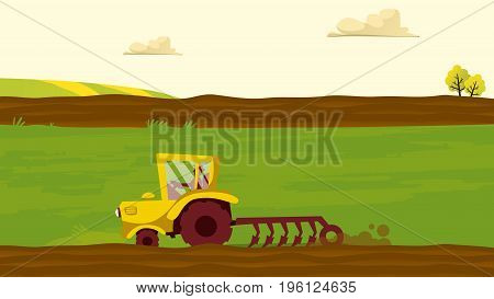 Agriculture and Farming. Agroturism. Agribusiness. Rural landscape. Design elements for info graphic websites and print media. Vector illustrations