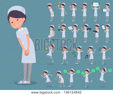 Flat Type Nurse Wear Woman_2