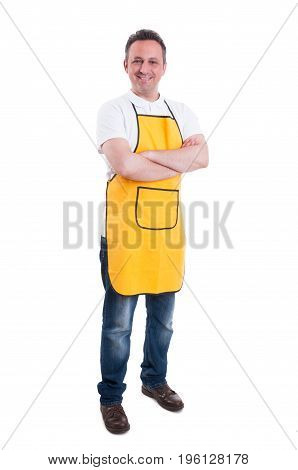 Full Body Of Male Employee Looking Confident