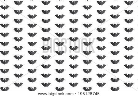 Seamless Pattern Swarm Of Black Bat Beautiful Vector Background For Decoration Designs