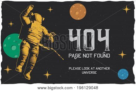 404 error poster with page not found to use for website vector illustration