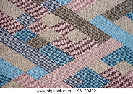 Bright multi-colored fabric. Abstract background empty template.
