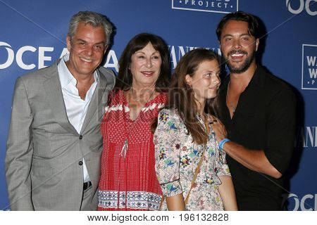 LOS ANGELES - July 17:  Danny Huston, Anjelica Huston, Stella Huston, Jack Huston at the Rock Under The Stars With Don Henley And Friends at a Private Residence on July 17, 2017 in Los Angeles, CA