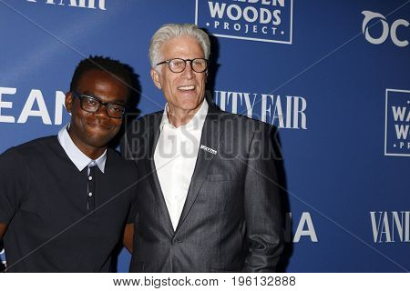 LOS ANGELES - July 17:  William Jackson Harper, Ted Danson at the Rock Under The Stars With Don Henley And Friends at a Private Residence on July 17, 2017 in Los Angeles, CA