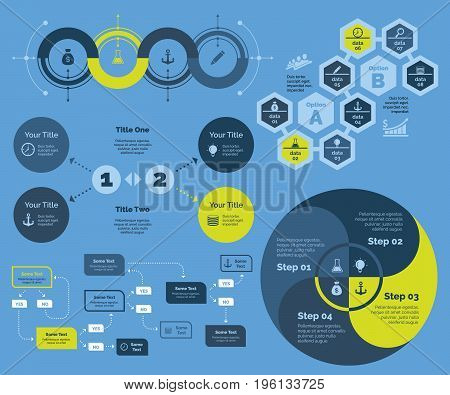 Solutions for business. Business data. Creative concept for infographic, various business templates, presentation, marketing, annual report. Can be used for topics like economics, start-up, enterprise