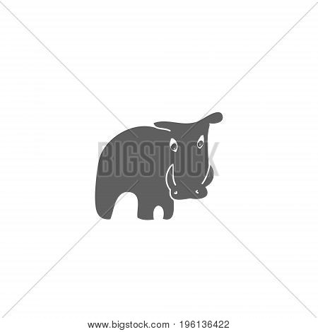 Silhouette wild boar on white background vector illustration