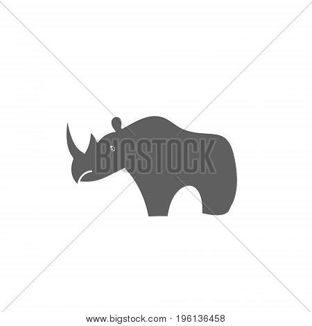 Silhouette of rhinoceros on a white background vector illustration