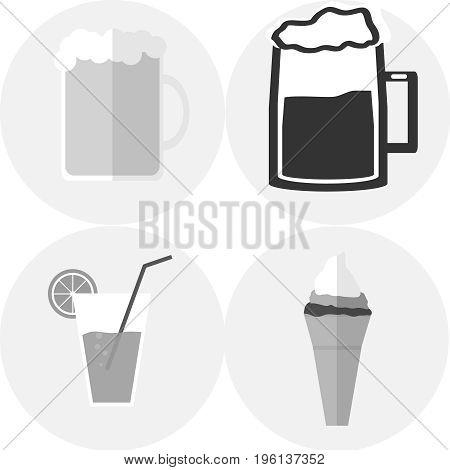 Beer Mug, A Glass Of Juice, Ice Cream
