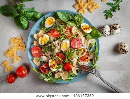 Farfalle Bow Tie Pasta Salad With Quail Eggs