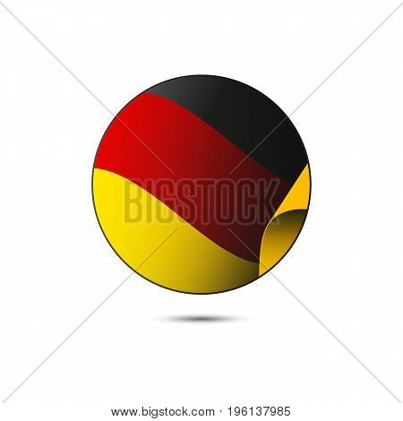 Germany flag button on a white background. Vector illustration.