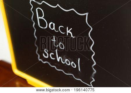 Blackboard With Back To School Writing