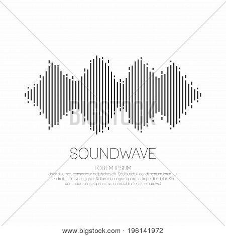 Sound wave. Monochrome soundwave icon logo. Vector