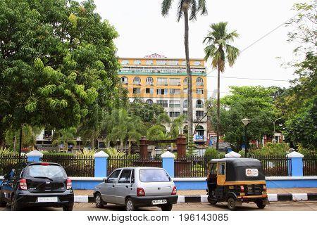 Goa India - March 01 2015: Hotel Manvin's in Panjim city