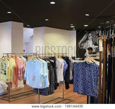 Goa India - March 01 2015: Fashion boutique Pepe Jeans