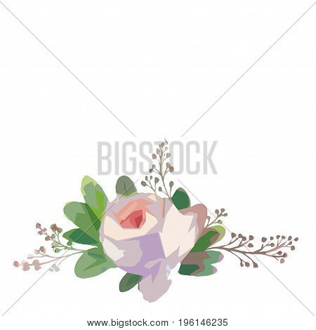 Wildflower rose flower in a vector style isolated. Vector wild flower for background, texture, wrapper pattern, frame or border.