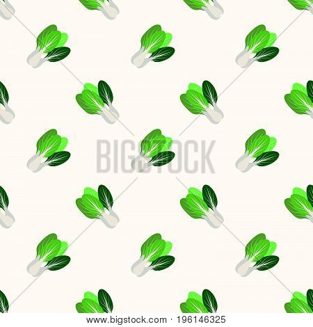 Seamless Background Image Colorful Vegetable Food Ingredient Bok Choy