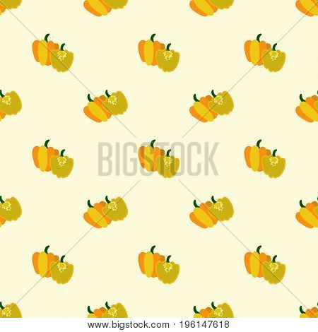 Seamless Background Image Colorful Vegetable Food Ingredient Yellow Scotch Bonnet Pepper