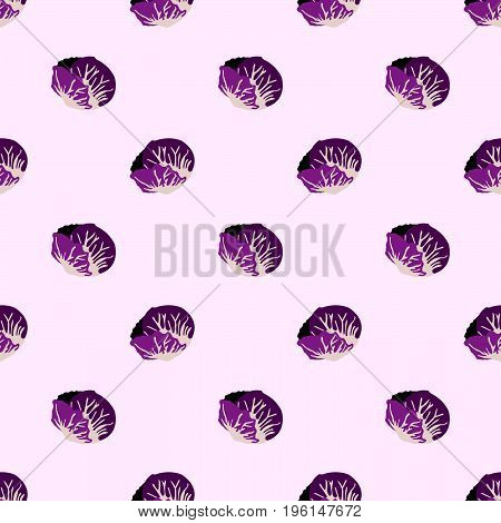 Seamless Background Image Colorful Vegetable Food Ingredient Radicchio