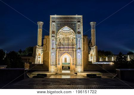 Guri Amir In Samarkand At Night