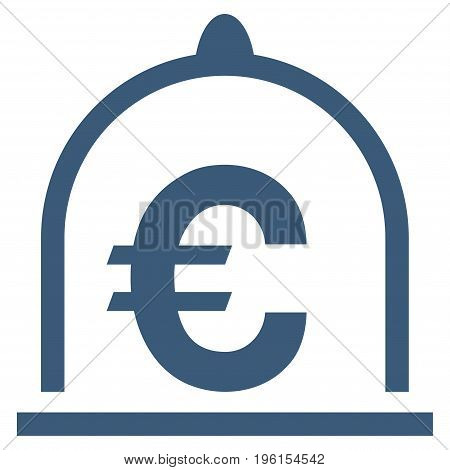 Euro Standard vector icon. Flat blue symbol. Pictogram is isolated on a white background. Designed for web and software interfaces.