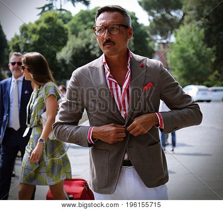 FLORENCE- 13 June 2017 Fabrizio Oriani on the street during the Pitti