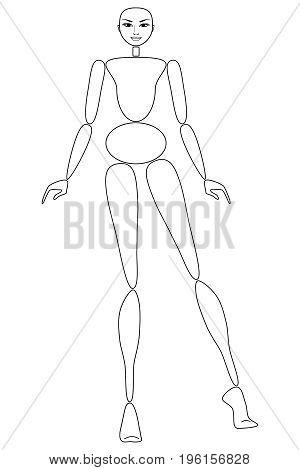 Female mannequin for fashion design - POSITION 04