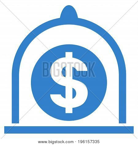 Dollar Standard vector icon. Flat cobalt symbol. Pictogram is isolated on a white background. Designed for web and software interfaces.