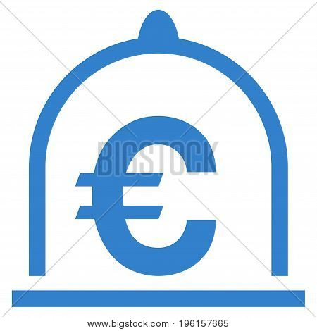 Euro Standard vector icon. Flat cobalt symbol. Pictogram is isolated on a white background. Designed for web and software interfaces.