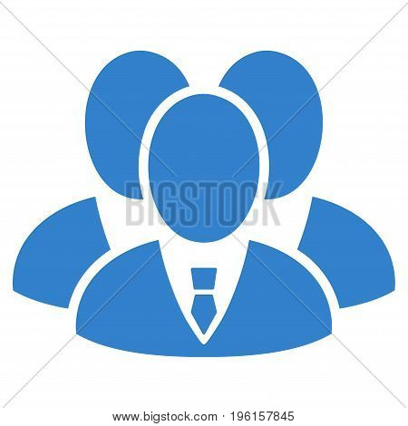 Manager Group vector icon. Flat cobalt symbol. Pictogram is isolated on a white background. Designed for web and software interfaces.