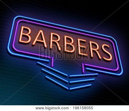 Neon Barbers Concept.