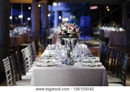 Wedding Guest Dining Table Decorations, Wedding Ceremony Dinner Dining Table