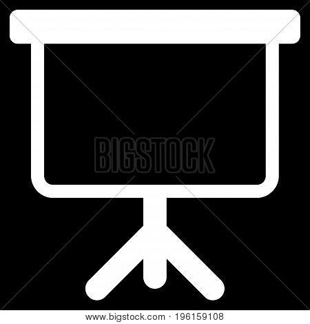 Projection Board vector icon. Flat white symbol. Pictogram is isolated on a black background. Designed for web and software interfaces.