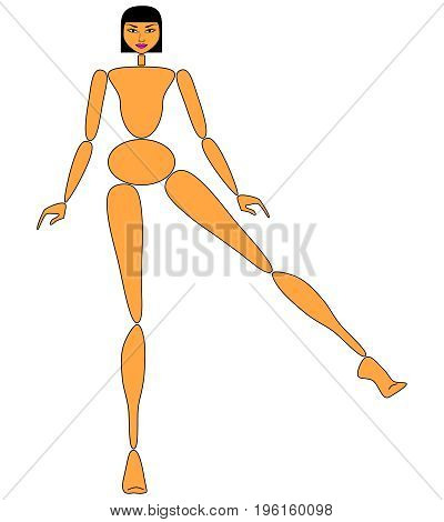 Female mannequin for fashion design - POSITION 05