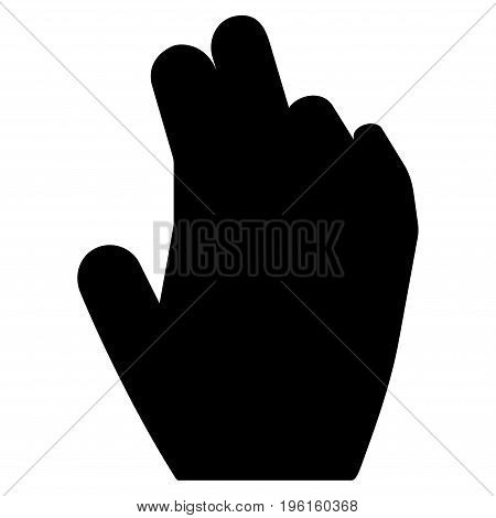 Manage Hand vector icon. Flat black symbol. Pictogram is isolated on a white background. Designed for web and software interfaces.