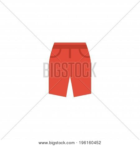 Flat Icon Shorts Element. Vector Illustration Of Flat Icon Swimming Trunk Isolated On Clean Background