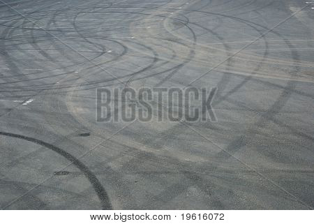 Track On An Asphalt Road