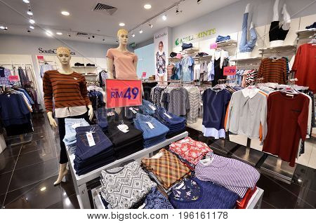 Varous Tpes Of Clothes Sold In Mall