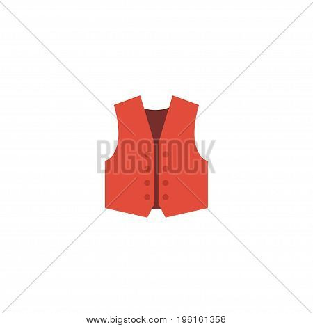 Flat Icon Vest Element. Vector Illustration Of Flat Icon Waistcoat Isolated On Clean Background