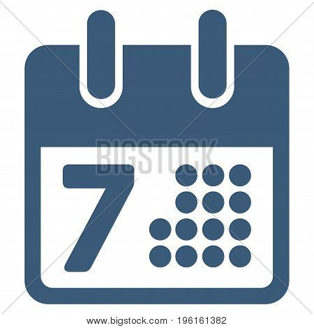 Calendar Day Page vector icon. Flat blue symbol. Pictogram is isolated on a white background. Designed for web and software interfaces.
