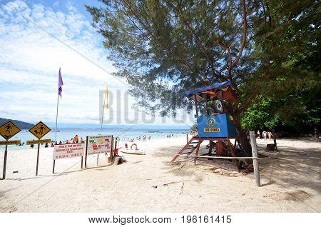 Sapi Island Lifeguard Post In Malaysia