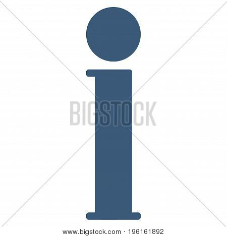 Information vector icon. Flat blue symbol. Pictogram is isolated on a white background. Designed for web and software interfaces.