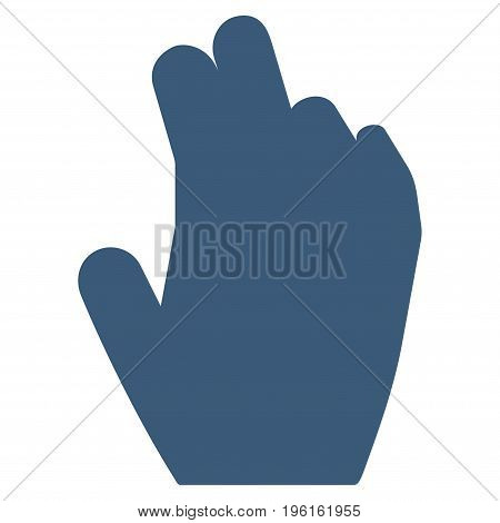 Manage Hand vector icon. Flat blue symbol. Pictogram is isolated on a white background. Designed for web and software interfaces.