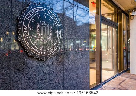 Washington Dc, Usa - December 29, 2016: Fbi, Federal Bureau Of Investigation Headquarters, On Pennsy