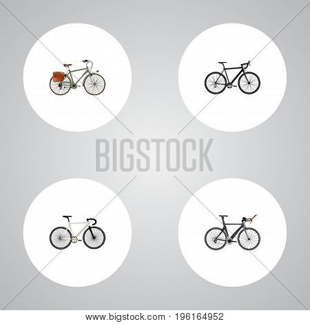 Realistic Road Velocity, Working, Cyclocross Drive And Other Vector Elements