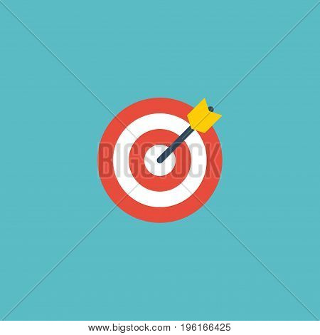 Flat Icon Target Element. Vector Illustration Of Flat Icon Arrow Isolated On Clean Background