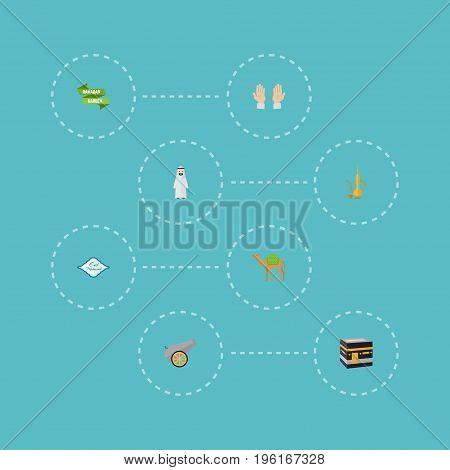 Flat Icons Pitcher, Ramadan Kareem, Arabian And Other Vector Elements