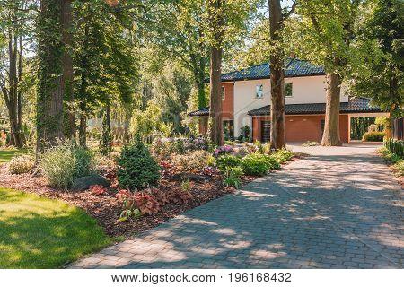 Garden Walkway Of Summer House